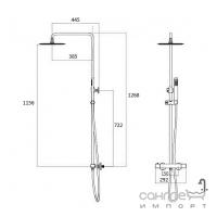 Душевая стойка со смесителем-термостатом Imprese Centrum Т-15410 хром