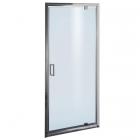 Душевая дверь Liveno Bravo 90x190 профиль хром, стекло графит