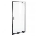 Душевая дверь Liveno Bravo 90x190 профиль хром, стекло прозрачное