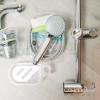 Смеситель для раковины с донным клапаном + смеситель для ванны + душевой гарнитур GRB Eco-Prime 15025150 хром