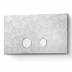 Панель смыва Linki Ceramic CER 500 нержавеющая сталь/керамика с декором