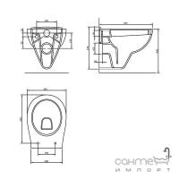 Унитаз подвесной Volle Maro 13-52-321 с мягким сидением + инсталляция Master 121515 + панель смыва хром