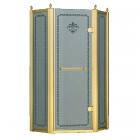 Пентагональная душевая кабина Godi Golden Lily 1006 gold/matt gloss
