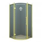 Полукруглая душевая кабина Godi Golden Lily 1007 gold/transparent gloss