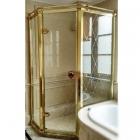 Пентагональная душевая кабина Godi Princeton SR2005 100х100 gold/transparent gloss