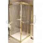 Прямоугольная душевая кабина Godi Princeton SR2104 120x90 gold/transparent gloss