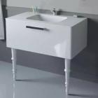 Тумба с раковиной напольная Intero Deco INTR00002 белый глянец