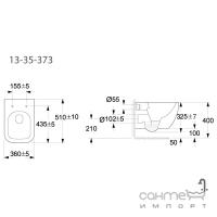 Унитаз подвесной безободковый Volle Orlando 13-35-373 + инсталляция Master 141515 + панель смыва хром