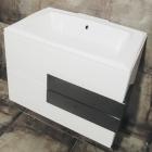 Тумба с раковиной подвесная Intero Hi-Tech INTR00016 белый/черный глянец