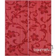 Плитка Ceramika Color Crypton red decor set.2 (цветы) 50x60
