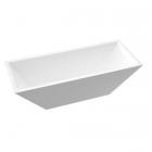 Отдельностоящая ванна из литого мрамора Fancy Marble Edward 11180001 белая