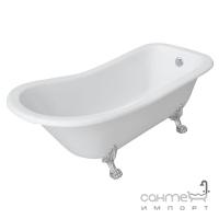 Акриловая ванна на львиных ножках Volle 12-22-706 белая/ножки серебро