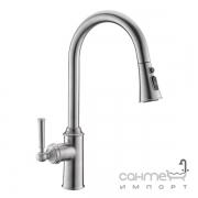 Смеситель для кухни с вытяжным изливом Imprese Hydrant ZMK031806150 нержавеющая сталь