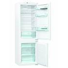 Встраиваемый двухкамерный холодильник с нижней морозильной камерой Gorenje NRKI 4181 E3 белый