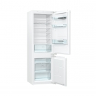 Встраиваемый двухкамерный холодильник с нижней морозильной камерой Gorenje RKI 2181 E1 белый
