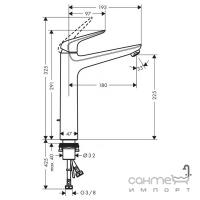 Смеситель для раковины с донным клапаном высокий Hansgrohe Novus 71123000 хром