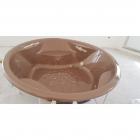 Круглая гидромассажная ванна Paa Rondo H-A-Plus (золото) + озонатор воздуха + сифон, цвет Pearl Bark
