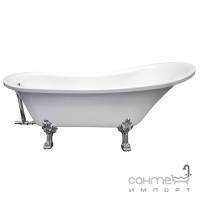 Акриловая отдельностоящая ванна на хромированных ножках Veronis VP-201 белая