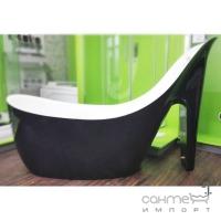 Акриловая отдельностоящая ванна Veronis VP-100 белая/черная