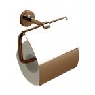 Держатель для туалетной бумаги с крышкой Quaranta Miny ABM17 бронза