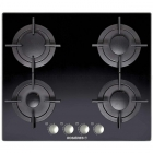 Газовая варочная поверхность Roseries RGV 64 FM PN черное стекло
