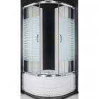 Душевая кабина с поддоном и сифоном Santeh 9021 XX профиль хром, стекло в ассортименте