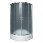 Душевая кабина с поддоном и сифоном Santeh 9018 XX профиль хром, стекло в ассортименте