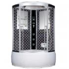 Гидромассажный бокс Badico San 088 XX стекло серое, профиль сатин, цвет задних стенок в ассортименте