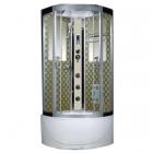 Гидромассажный бокс Badico San 978 XX стекло серое, профиль сатин, цвет задних стенок в ассортименте