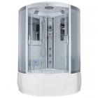 Гидромассажный бокс Badico San 086 XX стекло серое, профиль сатин, цвет задних стенок в ассортименте
