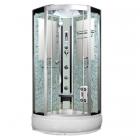 Гидромассажный бокс Badico San 383S XX стекло серое, профиль сатин, цвет задних стенок в ассортименте