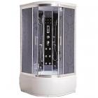 Гидромассажный бокс Badico Serie 44 4401-09 профиль хром, стекло Assol, задние стенки зеркальные