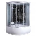 Гидромассажный бокс Badico Serie 44 4403-12 профиль хром, стекло прозрачное, задние стенки зеркальные