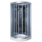 Гидромассажный бокс Badico Serie 44 4404-07 профиль хром, стекло тонированное, задние стенки зеркальные