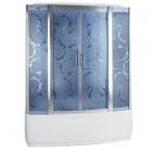 Гидромассажный бокс Badico Serie 44 4405-5 профиль хром, стекло Assol, задние стенки зеркальные