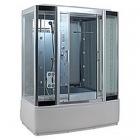 Гидромассажный бокс Badico Serie 44 4408-7 профиль хром, стекло прозрачное, задние стенки зеркальные