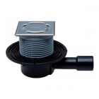 Душевой трап горизонтальный с сухим сифоном и решеткой Hutter & Lechner HL510NPr-3000