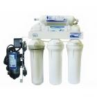 Проточный бытовой фильтр очистки воды 6-и ступенчатый UST-M RO6 POMP система обратного осмоса с минерализатором и помповым насосом