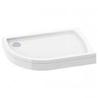 Полукруглый правосторонний душевой поддон Italian Style Neptun 120 P2063S белый