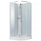 Душевой бокс без крыши со смесителем-термостатом Volle Oliva 11-88-173 хром, прозрачное стекло, задние стенки белые
