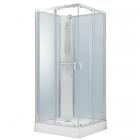 Душевой бокс без крыши со смесителем-термостатом Volle Solar 11-88-172 хром, прозрачное стекло, задние стенки белые