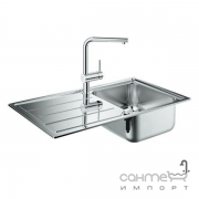 Кухонная мойка Grohe K500 + смеситель для кухни с выдвижным изливом Minta 31573SD0 нержавеющая сталь