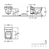 Унитаз подвесной безободковый 4,5/6л Keramag myDay 201460000