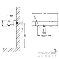 Смеситель-термостат для душа Kraus UKR-43039 CH хром