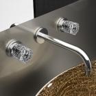 Смеситель для раковины скрытого монтажа Glass Desing Lyric Ice clear silver/chrome
