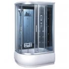 Гидромассажный бокс правосторонний Badico Serie 44 4407-2R профиль хром, стекло тонированное, задние стенки зеркальные