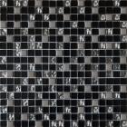 Мозаика 30x30 Grand Kerama Микс черный-платина рифленая-платина, арт. 912