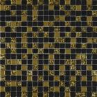 Мозаика 30x30 Grand Kerama Микс черный-золото рифленое-золото, арт. 913