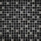 Мозаика 30x30 Grand Kerama Микс черный-черный рифленый верх-платина, арт. 911