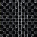 Мозаика 30x30 Grand Kerama Шахматка черная-черная колотая, арт. 2119